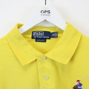 RALPH LAUREN Polo Shirt Yellow | Large