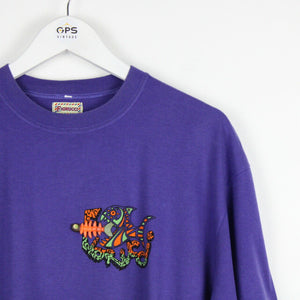 Vintage 90s FIORUCCI T-Shirt Purple | Large