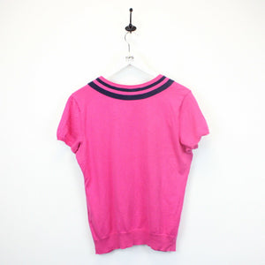 Womens RALPH LAUREN Knit T-Shirt Pink | Medium