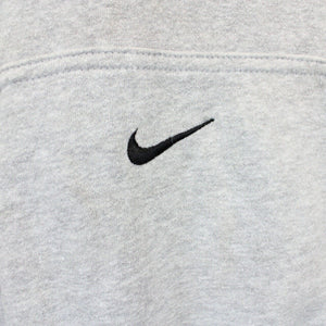 Vintage NIKE TEAM Hoodie Grey | Medium