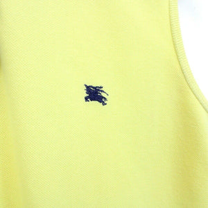 Womens BURBERRY Polo Shirt Yellow | XS