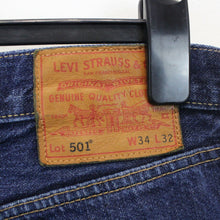 Load image into Gallery viewer, LEVIS 501 Big E Jeans Dark Blue | W34 L32