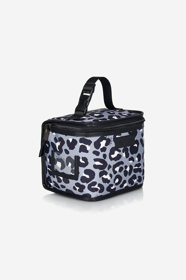 Arlo Lunch Bag / Snack Pack Grey / Black Leopard Print