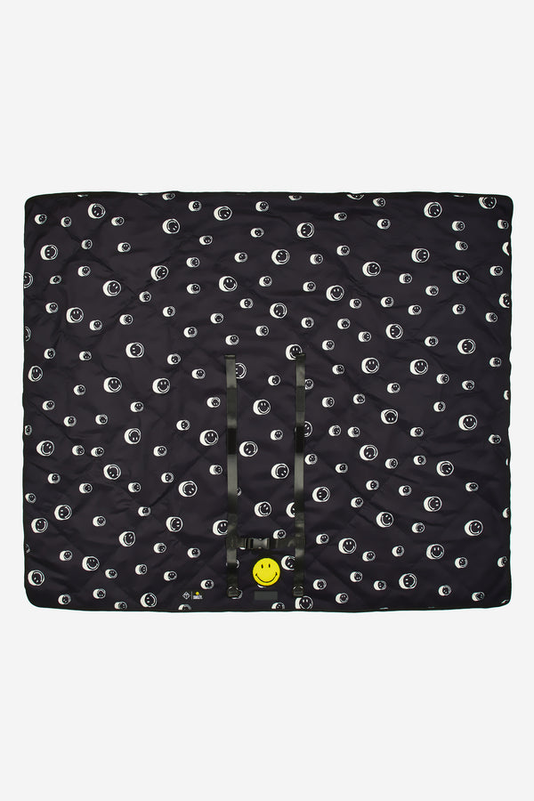 T+M x Smiley® Roll-Up Picnic Blanket Black Smiley® Print