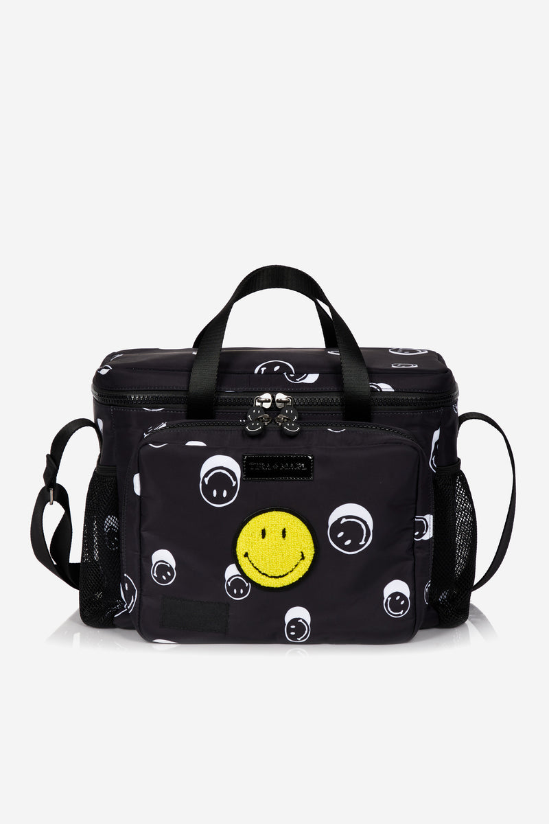 T+M x Smiley® Family Picnic / Cool Bag Black Smiley® Print