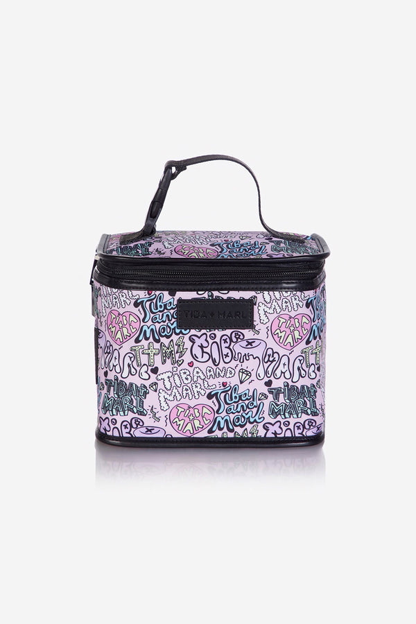 Arlo Lunch Bag / Snack Pack Pink Boom Print