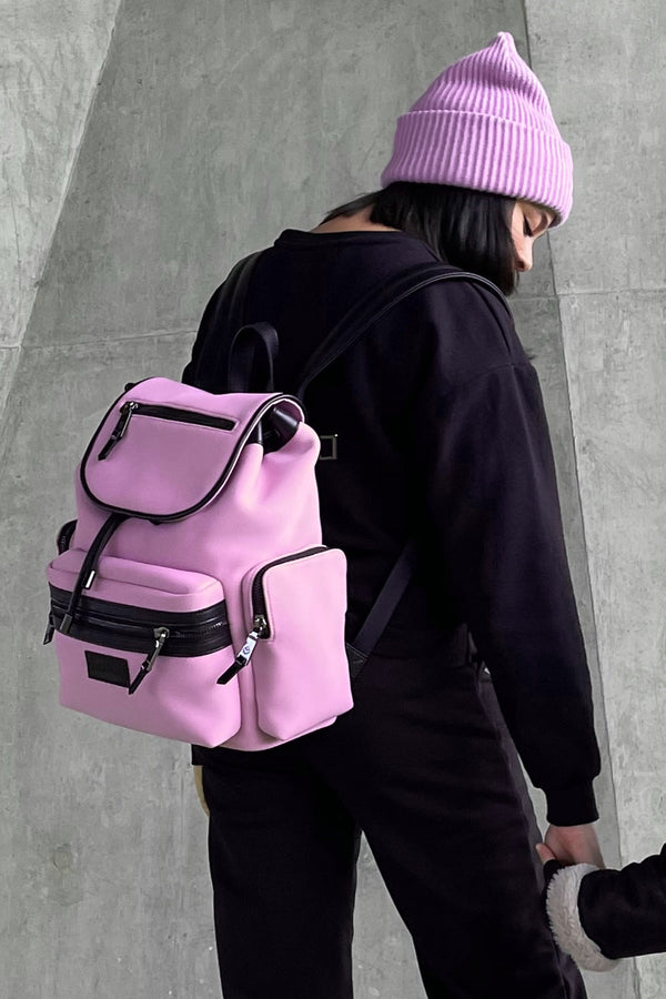 Kaspar Changing Backpack Pink Scuba