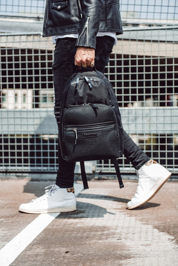 T+M x Selfridges Elwood Changing Backpack Black Mesh