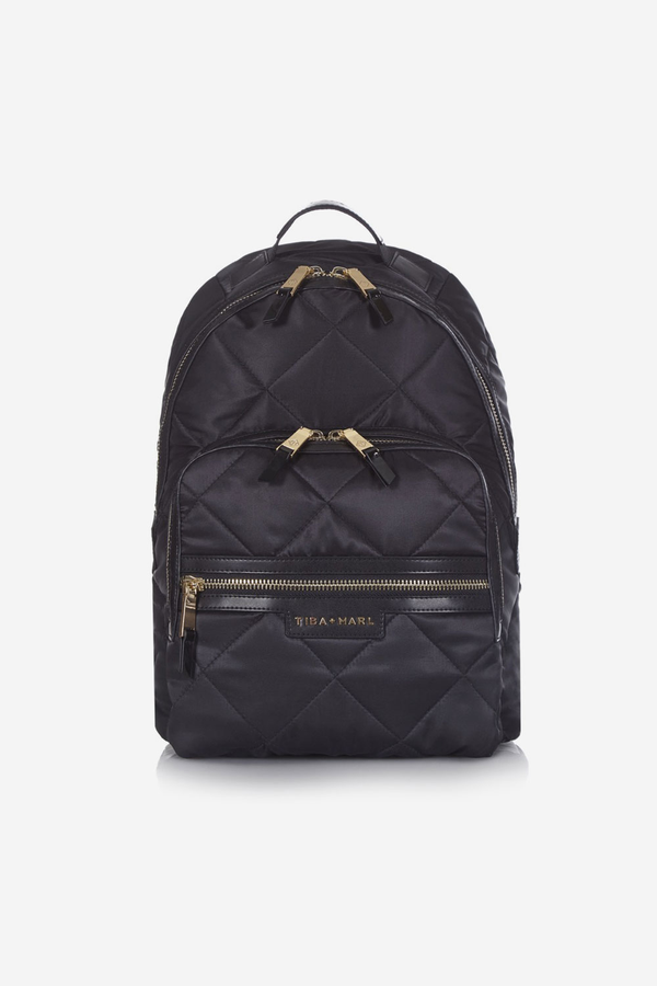 Elwood Changing Backpack Black / Gold Quilted
