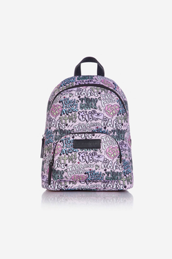 Mini Elwood Kids Backpack Pink Boom Print