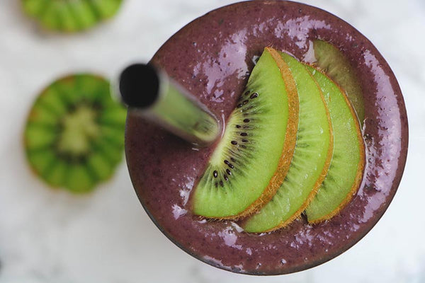 Smoothie with kiwi in cup