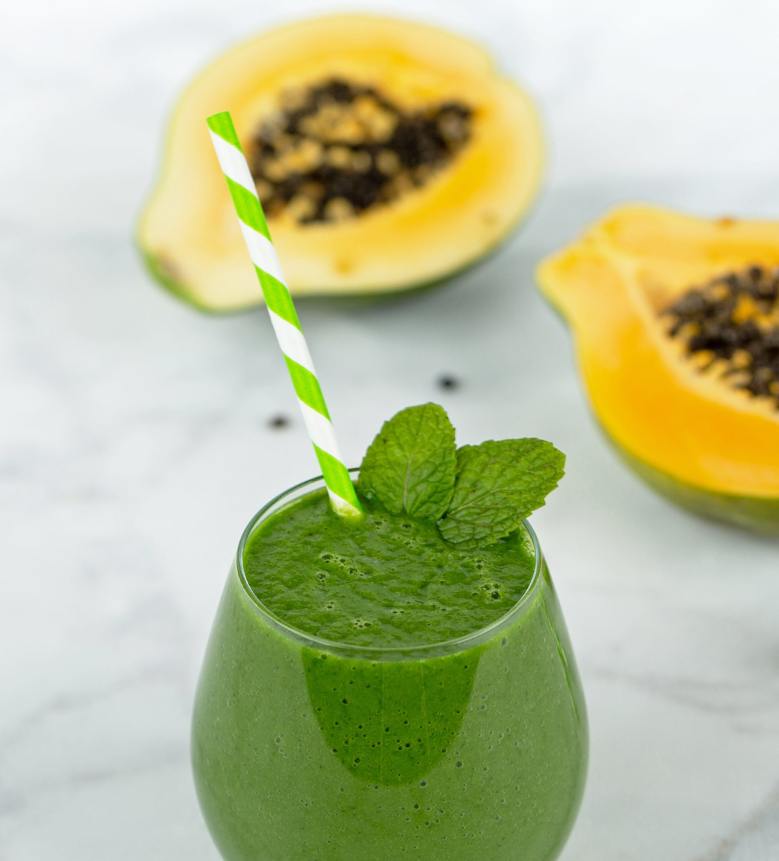 Graviola, Banana, Papaya and Greens Smoothie