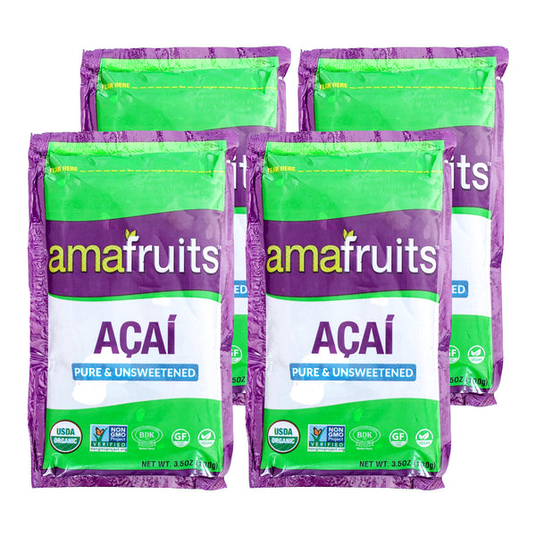Acai Pure and Unsweetened Fruit Packs