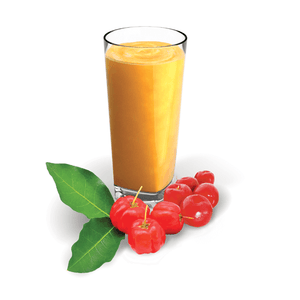 Acerola puree smoothie with fruit