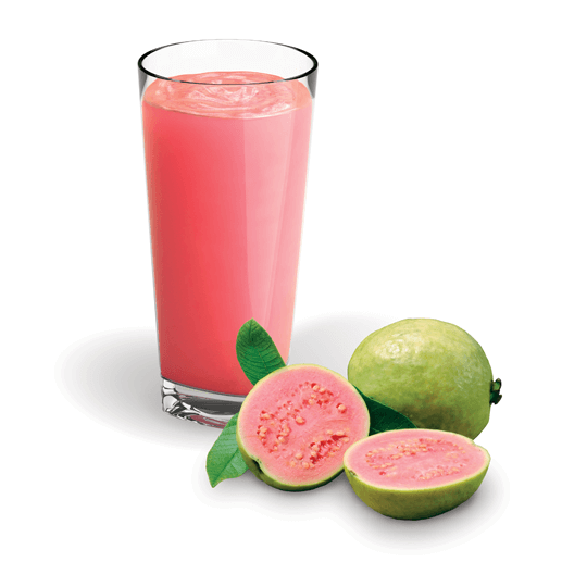 Goiaba Pink Guava Puree Smoothie and Fruit