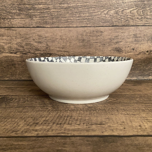 IVORY CHECKERS - Deep Bowl