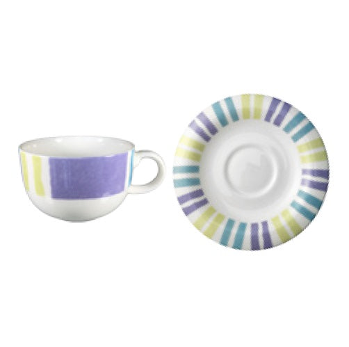 Candy Stripe Cup 300ml and Saucer 15cm