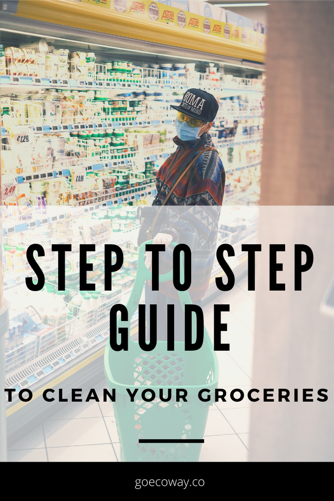 Step to step guide to clean your groceries