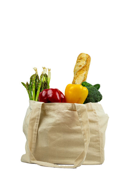 Multi Pocket Canvas Grocery Bag