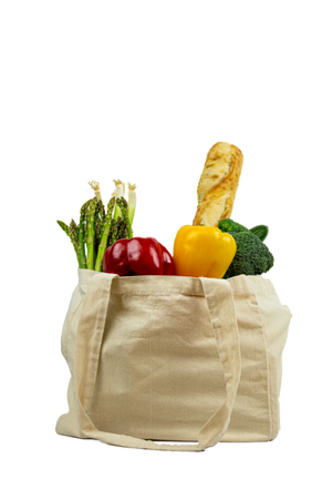 Multi Pocket Canvas Grocery Bag (x1 each)