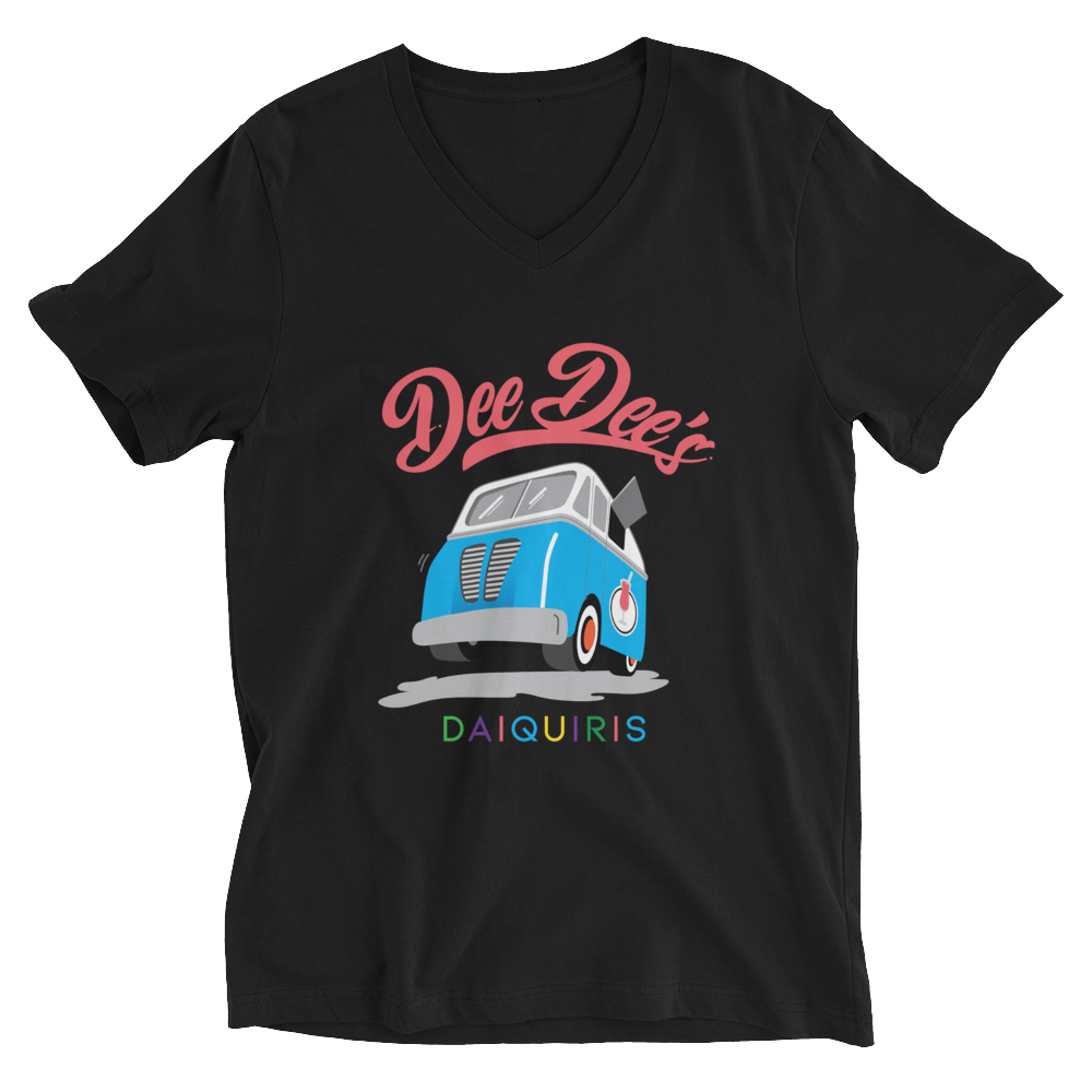 Dee Dee's Daiquiris Women's V Neck Short-Sleeve T-Shirt - Original Logo - Dee Dee's Daiquiris