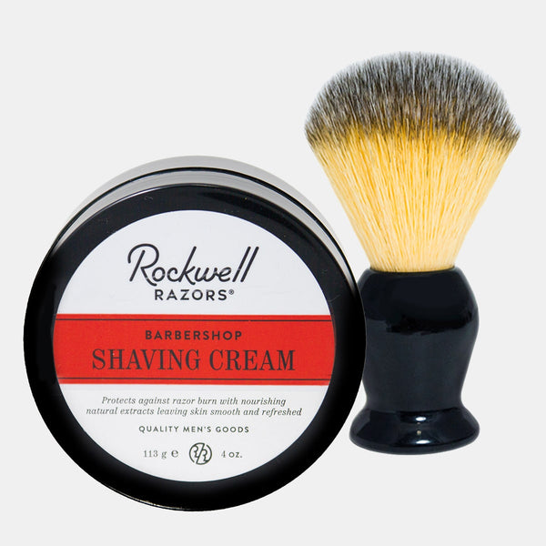 Rockwell All-Natural Shave Cream and Ultra Soft Vegan Shave Brush - , Rockwell Razors
