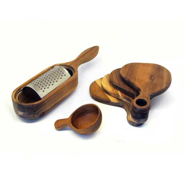 Acacia Wood Kitchen Utensils Set