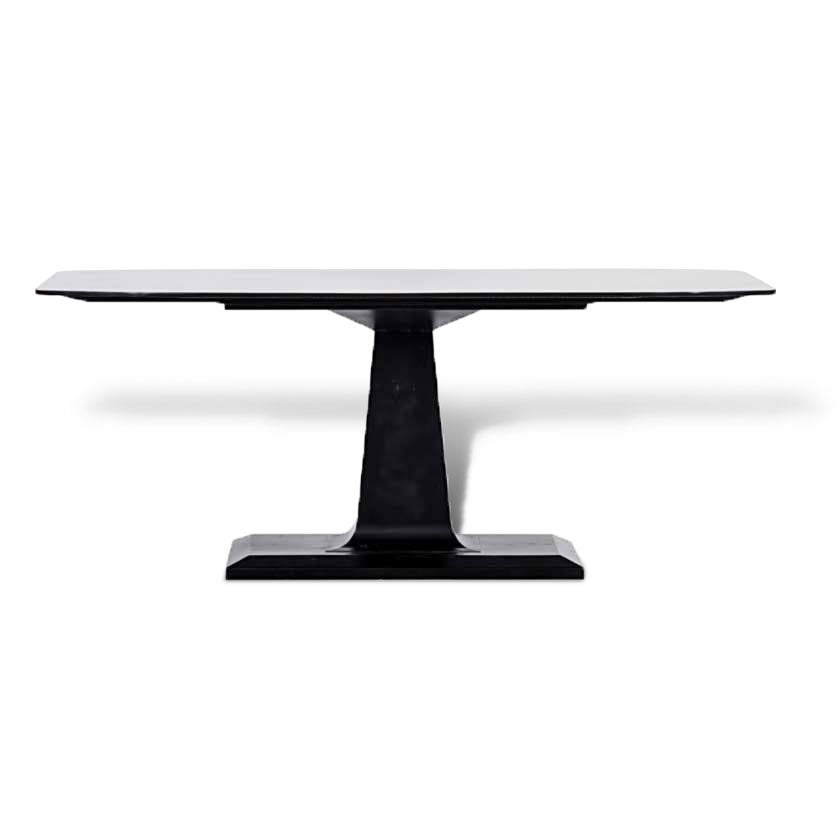Amboss Industrial Dining Table In Black Metal