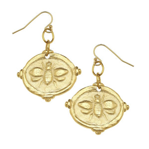 Susan Shaw Bee Intaglio Earrings