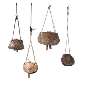 Hanging Wood Cowbells