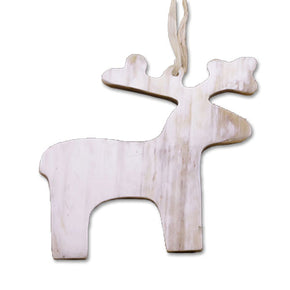 Reindeer Cow Horn Ornament