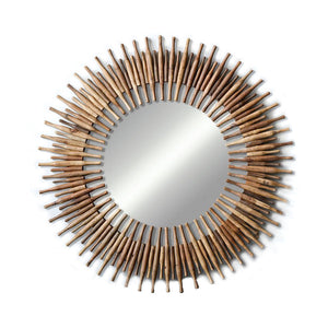 Found Wood Rotini Pin Mirror
