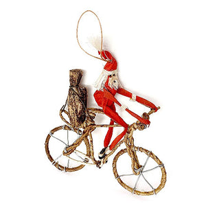 Santa on a Bike Ornament