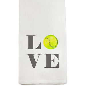 Cotton Tennis Love Guest Towel