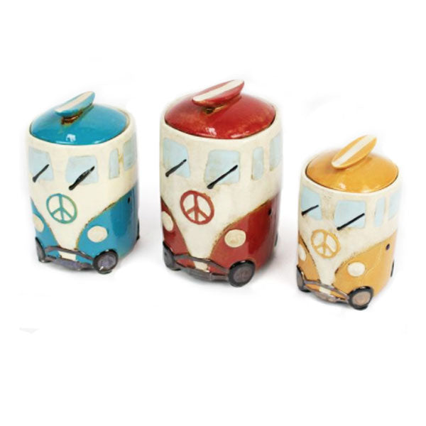 VW Bus Canisters Set of 3