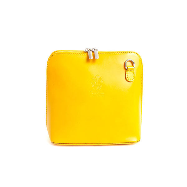 Bold Italian Leather Petite Cross Body - Canary Yellow