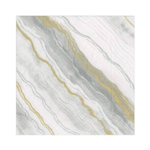 Marble Paper Cocktail Napkins in Grey
