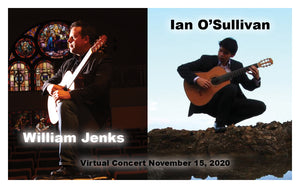 William Jenks and Ian O'Sullivan Set to Perform November 15