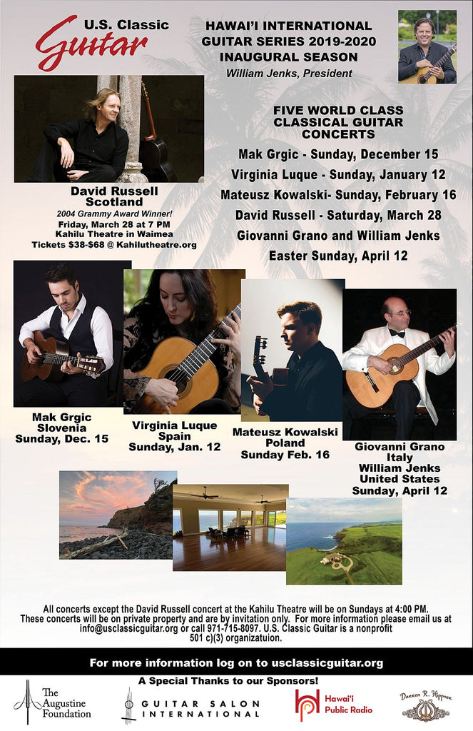 HAWAII INTERNATIONAL GUITAR SERIES SEASON TICKETS