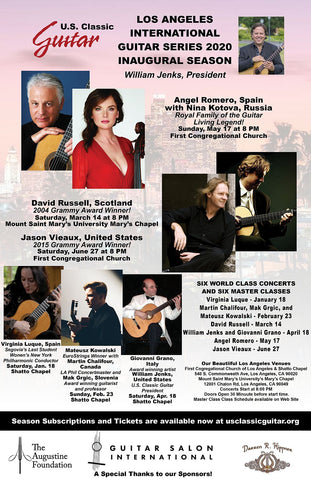 LOS ANGELES INTERNATIONAL GUITAR SERIES SEASON TICKETS