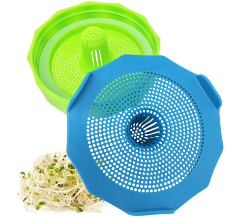 Bean Screen Sprouting Lids - 2/PK - Wide Mouth Jars