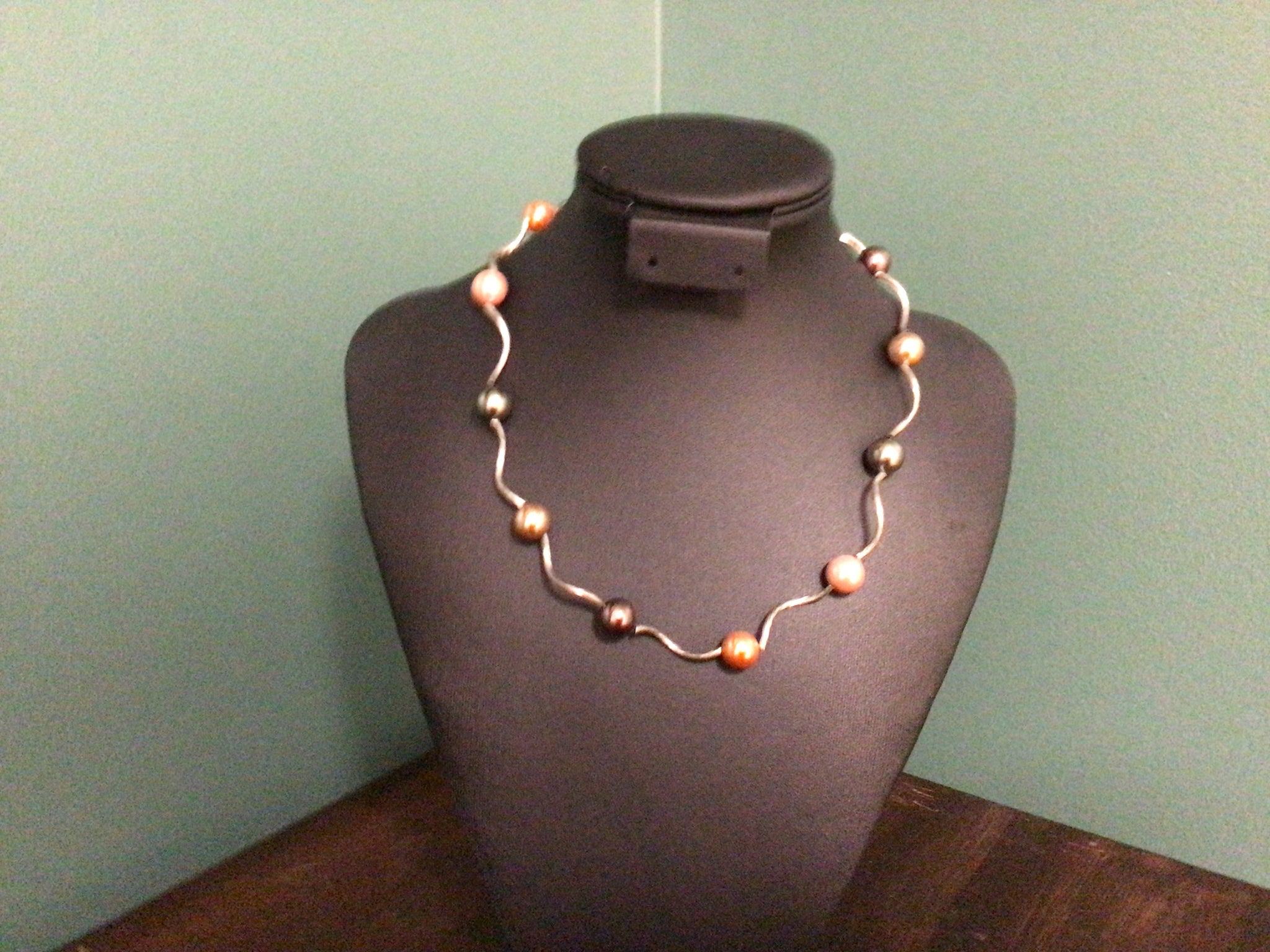 Silver Beaded Choker Necklace