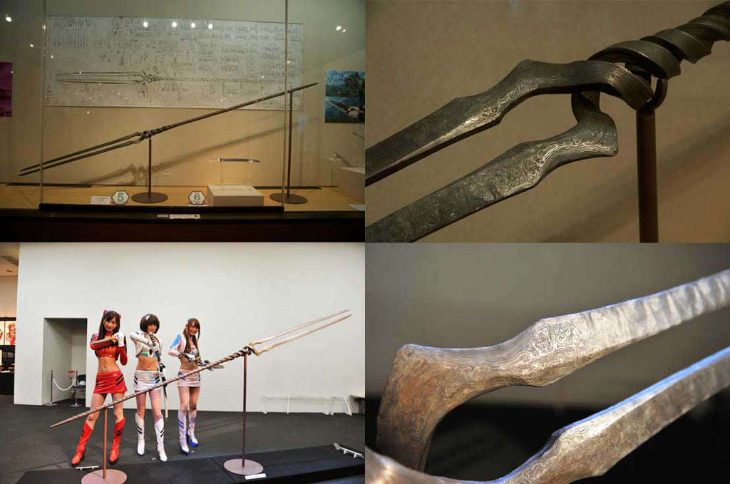 The Lance of Longinus, a symbolic artifact of the animne  Neon Genesis Evangelion, was replicated by Shoichi Hashimoto and his master Takanori Mikami. Image credit: livedoor.com, air-nifty.com)