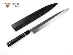 K&S Custom Ebony, Black Horn Ferrule Triple Spacer WA handle
