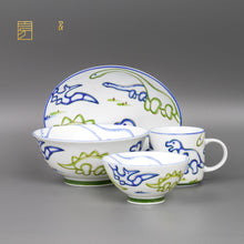 Load image into Gallery viewer, Mino Ware Kids Dish 4 pcs Set Jurassic Japanese Tableware