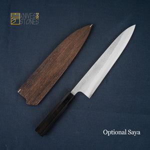 Yoshikane SKD Gyuto 240mm, stainless cladding with Nashiji Finish