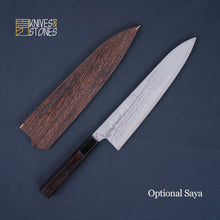Load image into Gallery viewer, Tanaka VG10 Damascus Gyuto 240mm with K&S Ebony Handle