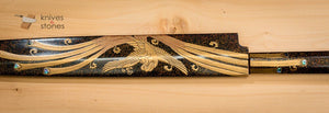 The Golden Phoenix - Moonnight Fujiyama Honyaki Yanagiba with Makie Lacquer Finish 300mm