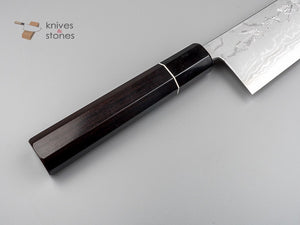 Tanaka Blue 2 Damascus Gyuto 270mm with custom octagonal Ebony handle