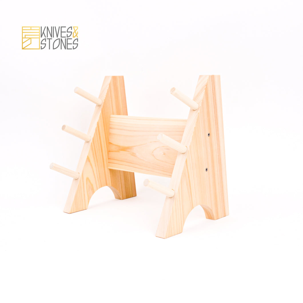 Japanese Wooden Knife Stand (3 Knife)